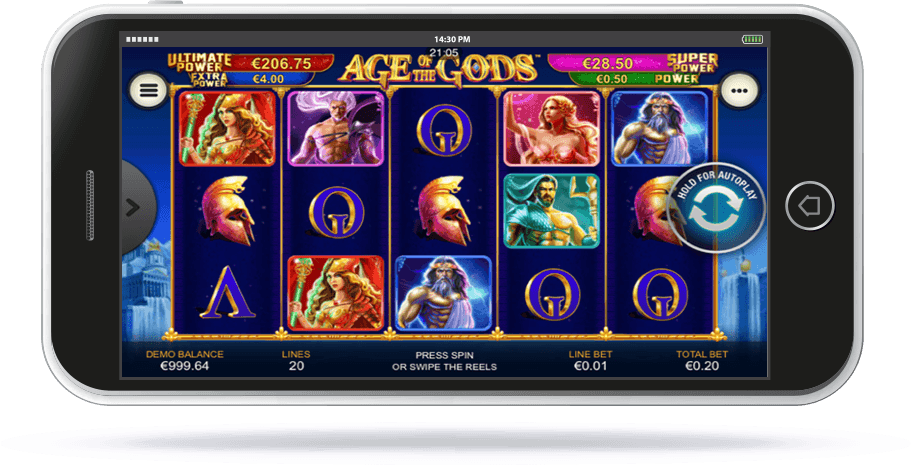 Age of Gods Slot on Mobile Screen