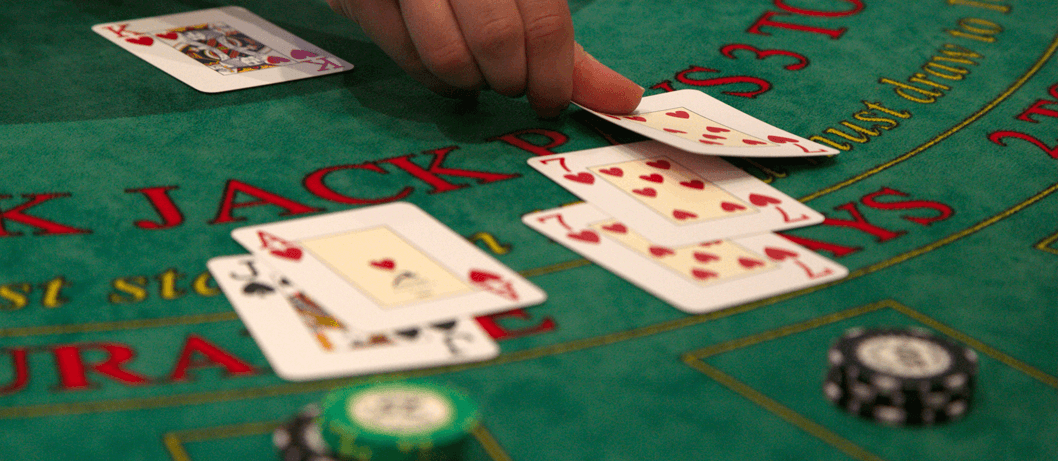 Example of a game of blackjack