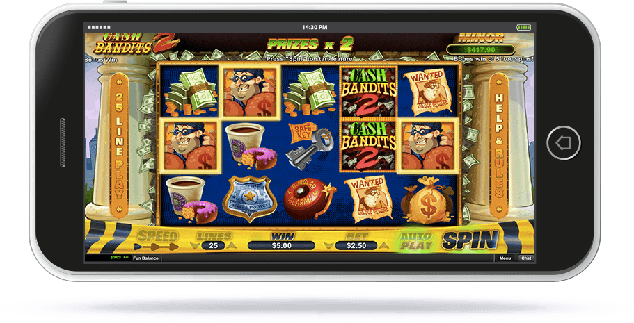 Cash Bandits 2 Slot on Mobile Screen