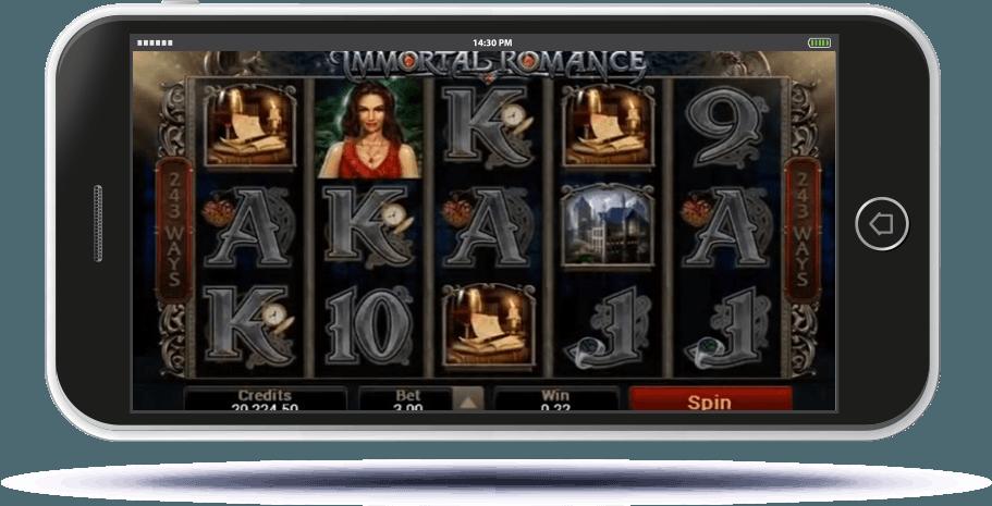 Immortal Romance Slot on Mobile Screen
